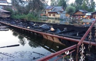 Two houseboats gutted in Srinagar's Nigeen Lake fire