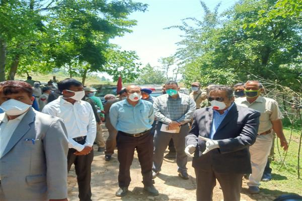 Advisor Baseer Khan visits Frontier Kupwara District