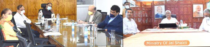 Union Minister Jal Shakti, Lt Governor review implementation of Jal Jeevan Mission in J&K
