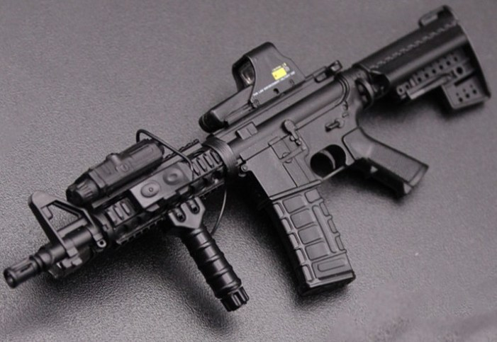 M-4 rifle recovered after gunfight in Kupwara woods