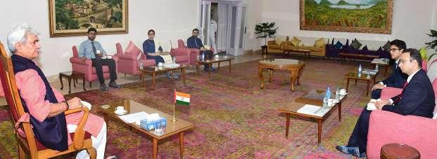 Lt Governor meets Civil Services Qualifiers