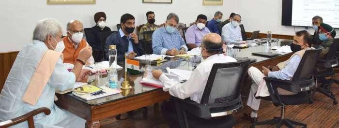 Lt Governor chairs 16th meeting of Board of Governors of J&K Sainik School, Manasbal