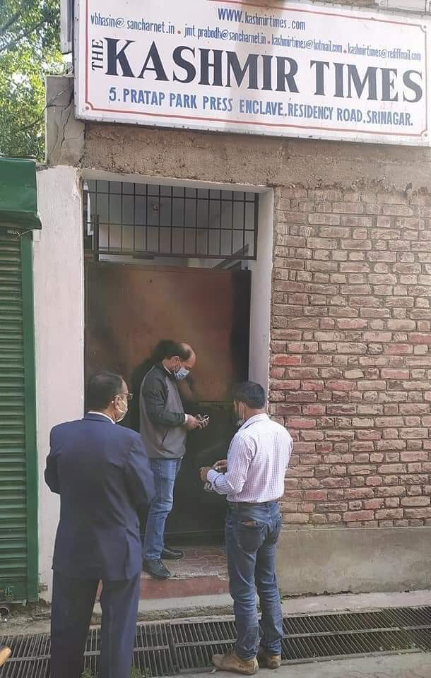 Kashmir Times office sealed by Estates Department