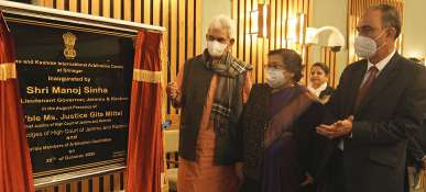 Lt Governor inaugurates J&K International Arbitration Centre; launches JKIAC website