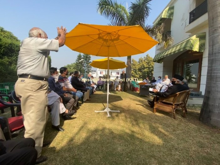 PAGD's maiden meet in Jammu underway at Farooq's residence