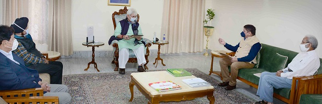 VC Jammu University, former MLC, various public delegations call on Lt Governor