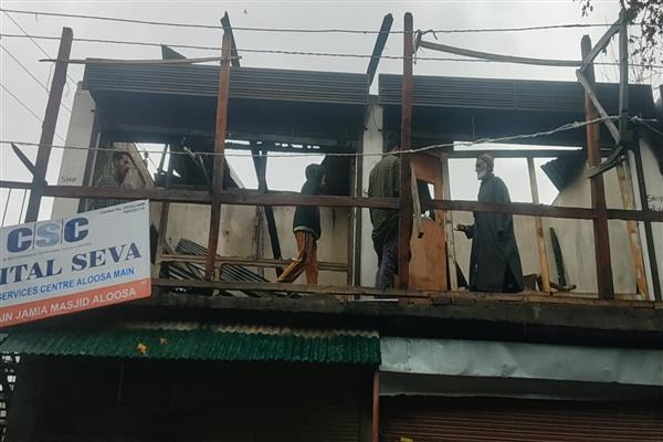Fire damages 10 structures in Aloosa B'pora