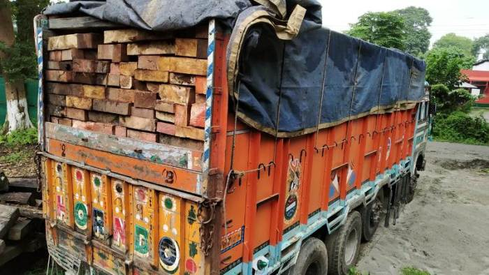Vehicle with 'illicit timber' seized in south Kashmir