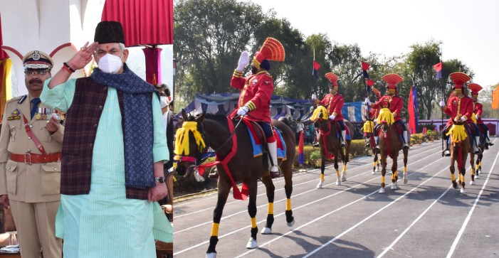Attestation cum Passing-Out-Parade of Dy.SsP (Prob.) & PSIs at SKPA Udhampur  Public Service & Sacrifice is the Proud Legacy of Jammu and Kashmir Police: Lt Governor