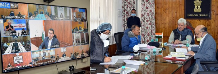 Lt Governor takes cognizance of applicants' grievances during Live Public Grievance Hearing