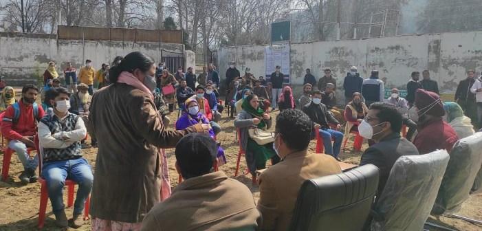 DC holds public meetings at Harwan, Panzinara