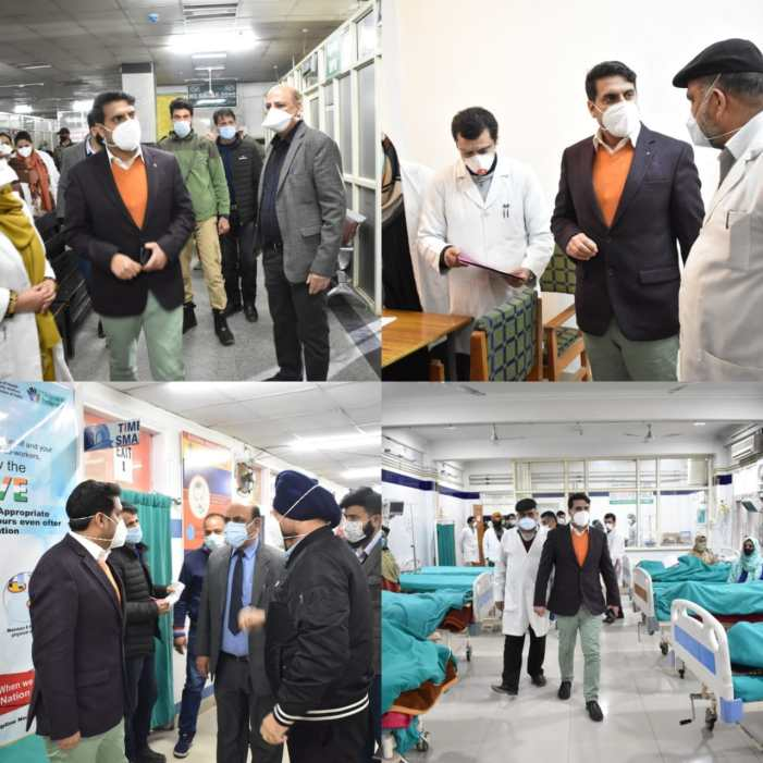 DDC Srinagar takes stock of patient care facilities at city hospitals