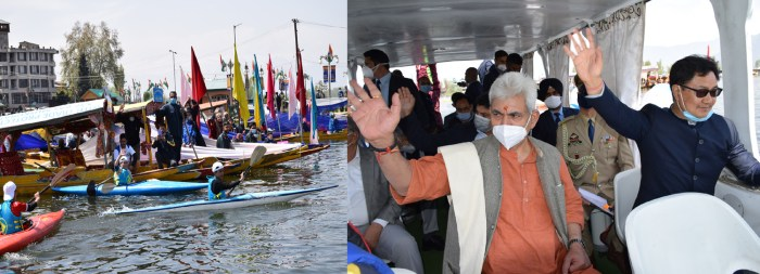 """Lt Governor Manoj Sinha, Union MoS Kiren Rijiju inaugurate Khelo India Centre of Excellence """"Water Sports Academy"""" at Nehru Park"""