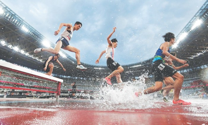 Tokyo's Olympic Stadium holds track and field test event, minus fans