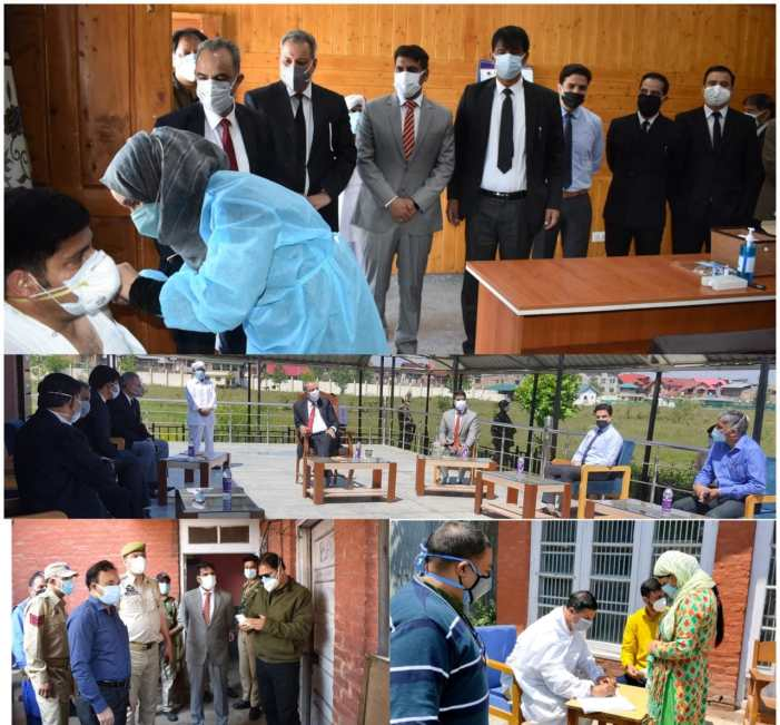 Justice Magreyvisits District Court Complex Srinagar