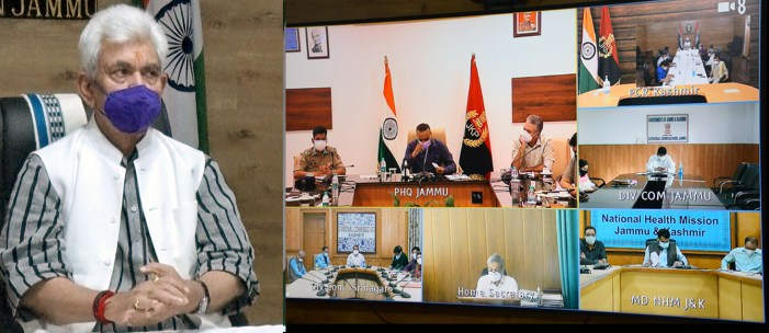 Lt Governor closely monitoring the Covid situation in J&K
