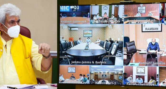 Lt Governor chairs meetings with senior Doctors, CMOs, DCs of Jammu Division
