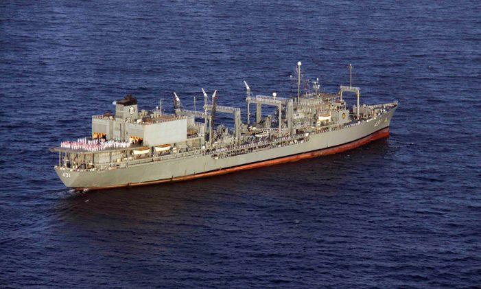 Iran's navy vessel sinks after fire in Gulf of Oman