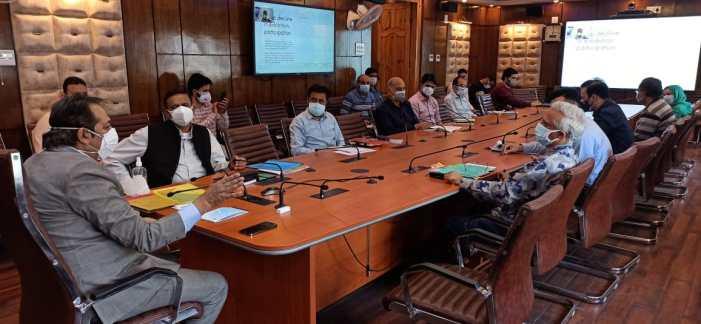 Advisor Baseer Khan chairs review meeting of Handicrafts and Handloom deptt