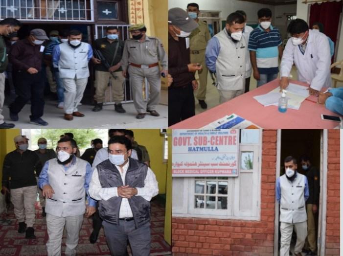 DC Kupwara inspects ongoing vaccination process, takes stock of fire incident of Sabzi Mandi Handwara