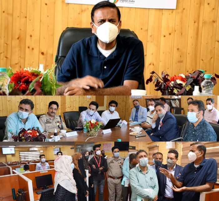 Principal Secretary I&C reviews performance of DIC, rural BPO in Bandipora