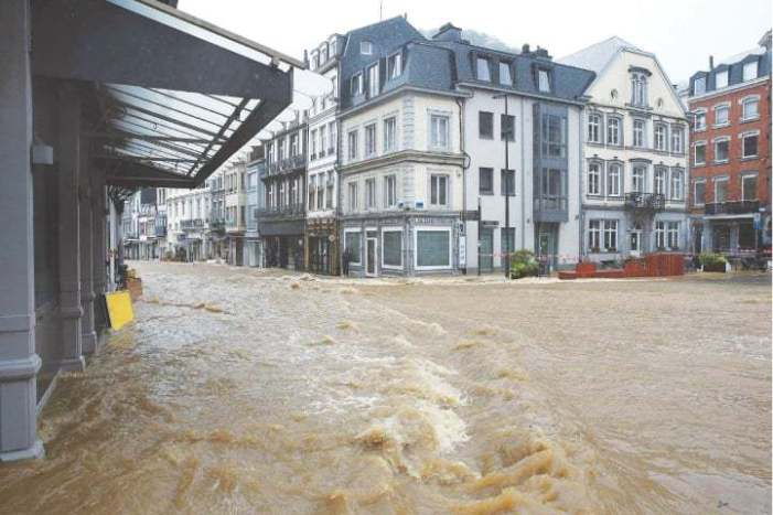 Storms cause heavy flooding in parts of Europe