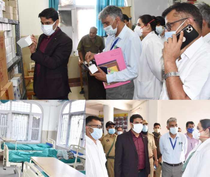 DC Srinagar inspects upgradation works at PHC Batmaloo