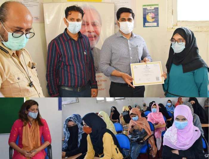 DC B'pora distributes course completion certificates among students under PMKVY