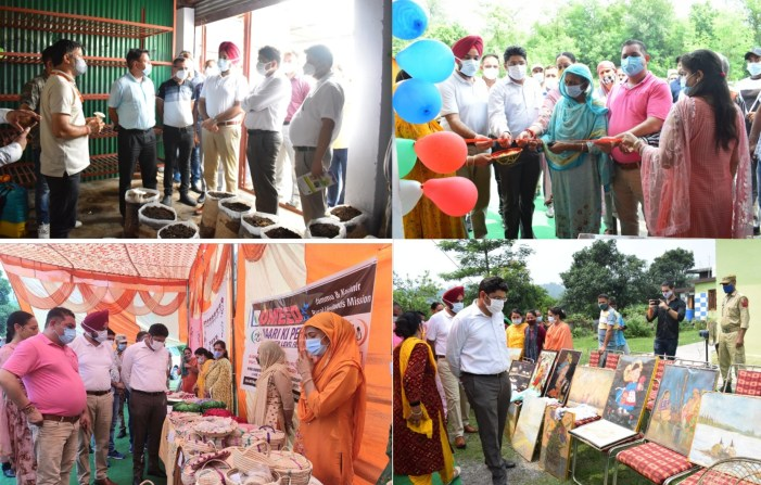 Div Com inspects Agriculture farm, other infrastructure projects in Reasi