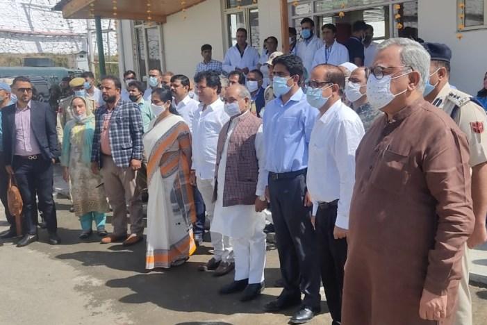 Delegation led by Union Agriculture Minister to Kashmir visits Indian International Trade Saffron Spice Park