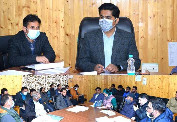 DC B'Pora reviews progress of RDD works under District Capex Budget
