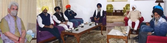 Sikh Delegation calls on Lt Governor