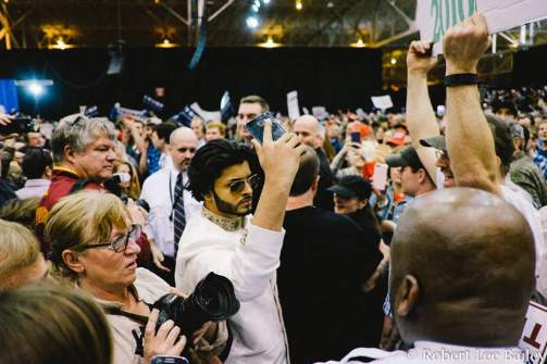 Saqib Javed - American Muslim Activist at Trump Rally