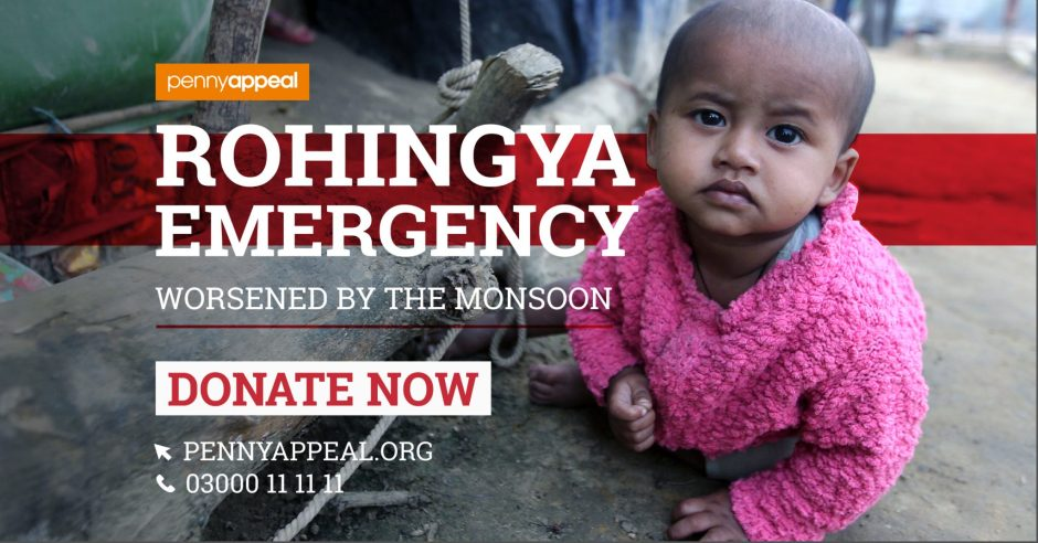 Rohingya Emergency. Worsened by the Monsoon. Donate now.