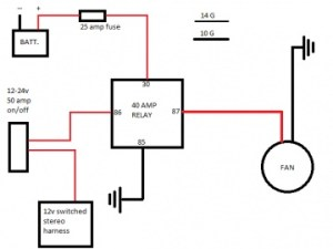 my 23 fan relay diagram  The Mustang Source  Ford