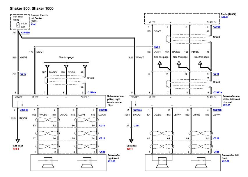 Wiring Diagram For 2000 Ford Mustang