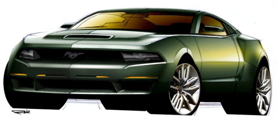 The Mustang Source - 2010 Bullitt Concept Sketch