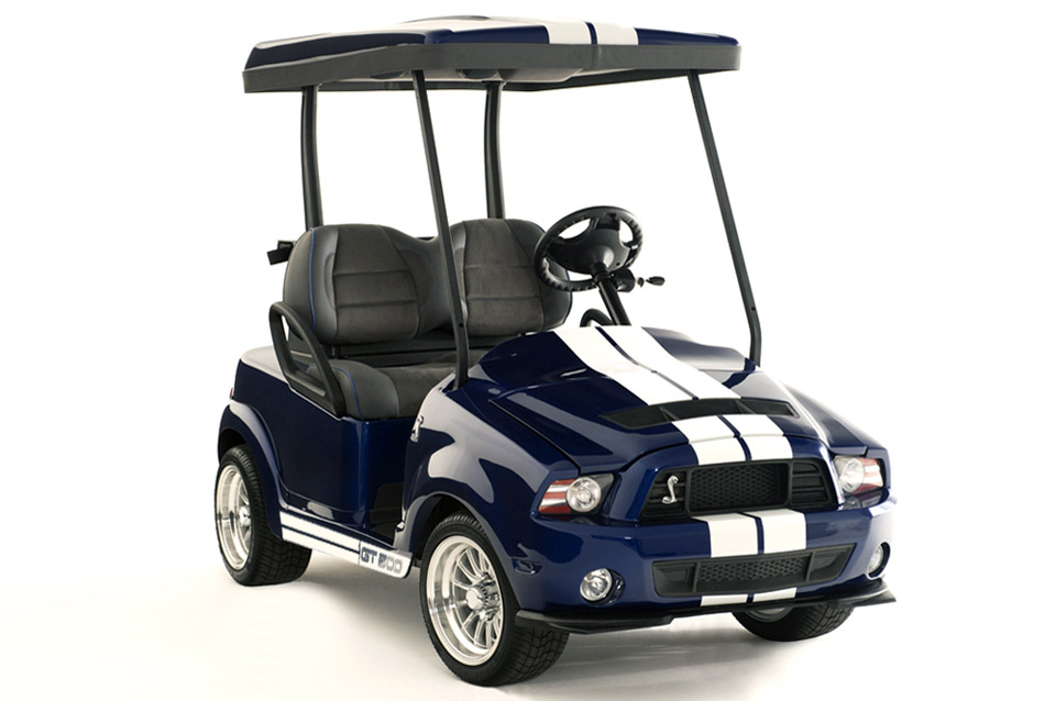 How About a Shelby GT500 Golf Car(t)? - The Mustang Source on ford dune buggy, custom club cart, ford fan, ford power unit, ford gold cart, ford electric scooter, ford utv, ford door opener, ford motorcycle,