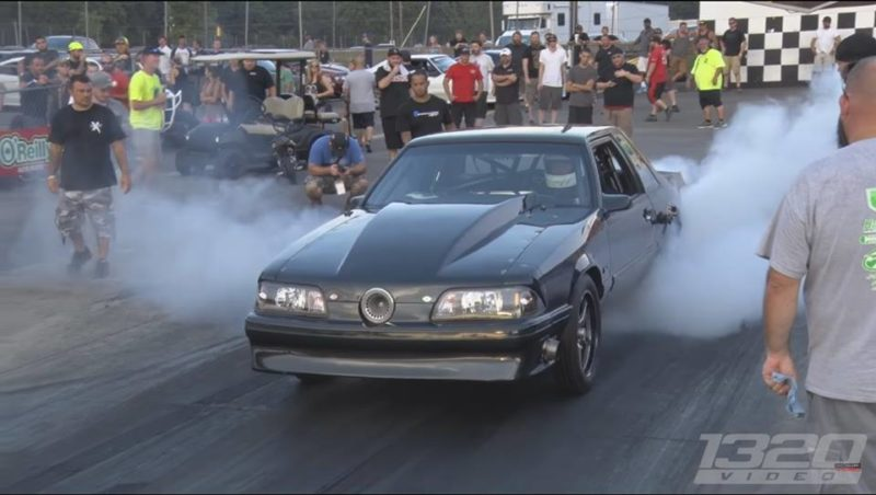 Fox Body With Grille-Mounted Turbo Finds Its Happy Place