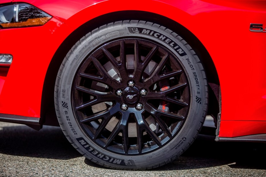 2018 Mustang with Michelin Pilot Sport tires.
