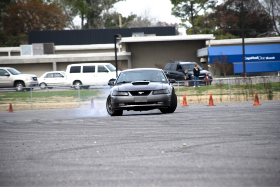 Fourth Generation New Edge Mustang Drifting