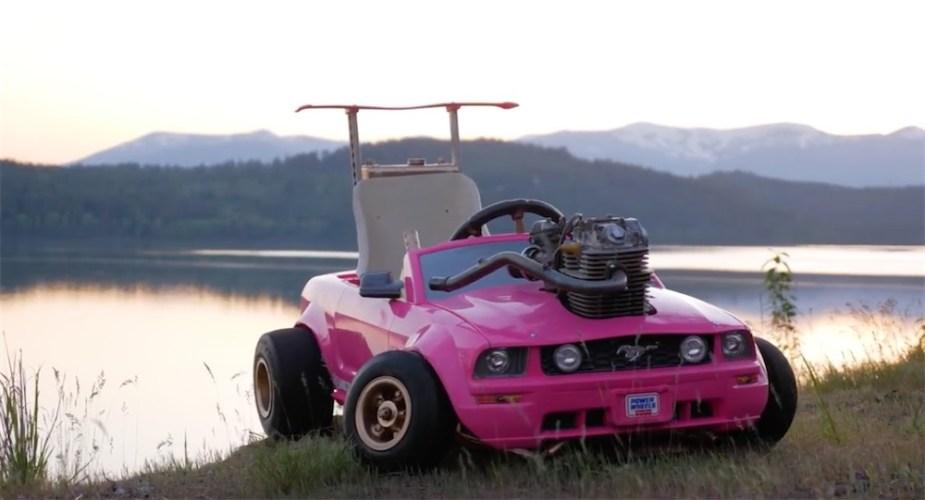 Honda-powered Barbie Mustang