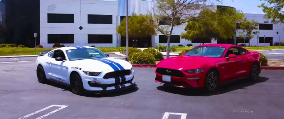 2018 Mustang GT and 2016 GT350R