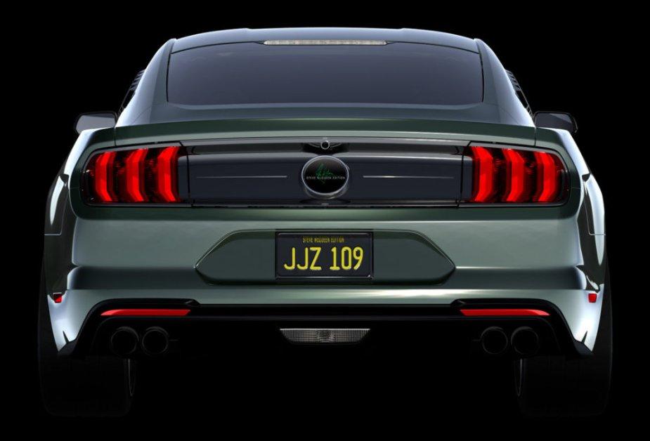 Steve McQueen Bullitt Mustang Rear