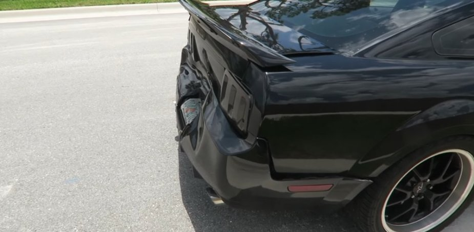 Wrecked Mustang Passenger's Side Close