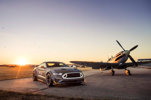 Ford, Vaughn Gittin Jr. Race to the Clouds at Goodwood with Eagle Squadron Mustang GT
