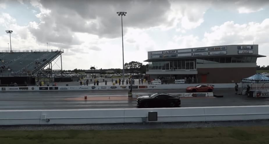 Broken Coyote motor Mustang drag race supercharged
