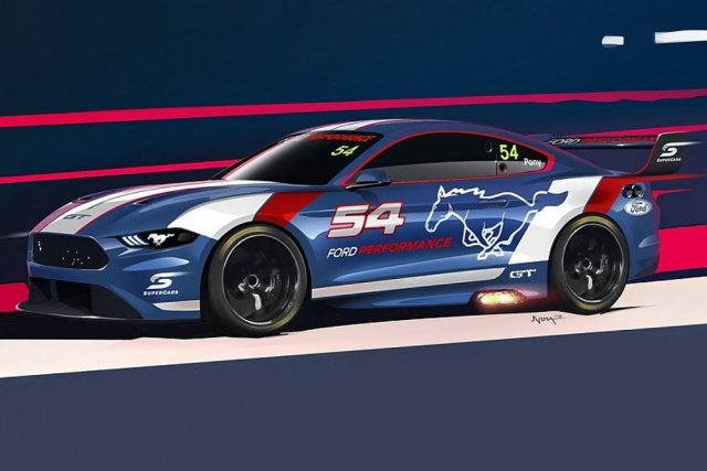 Australian Supercars Mustang Drawing