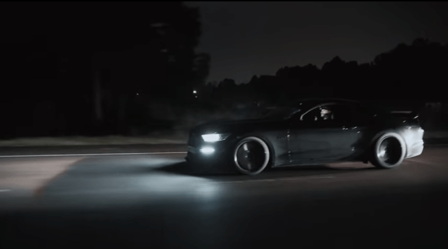 Modded Mustang GT taking on Dodge Demon.