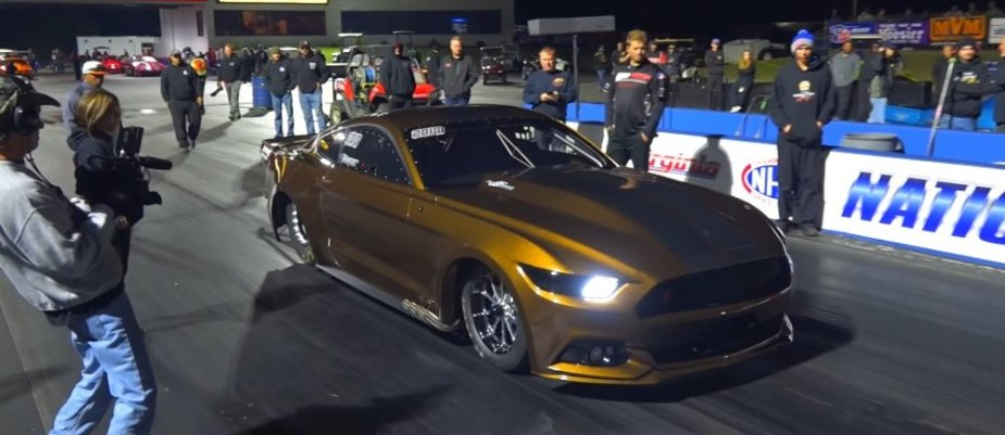 Essick Mustang at Night